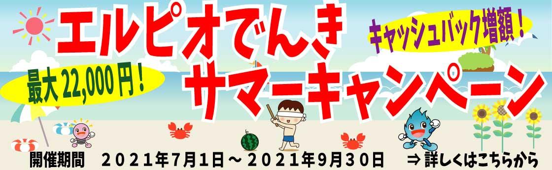 【キャッシュバック増額】サマーキャンペーン